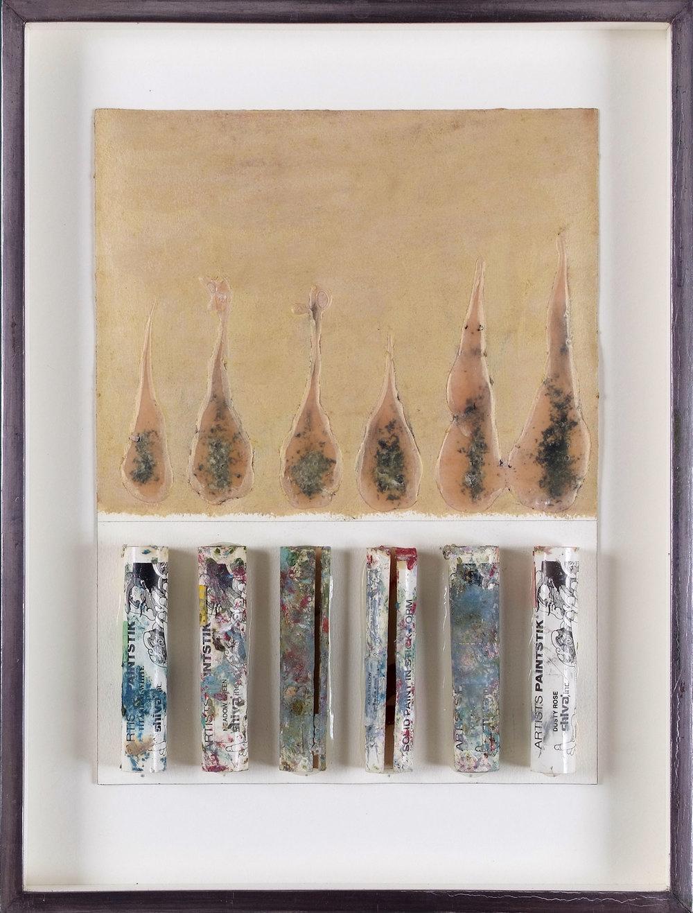 o.T. | Mischtechnik und Collage auf Papier | 1990 | 41 x 31 x 3 cm