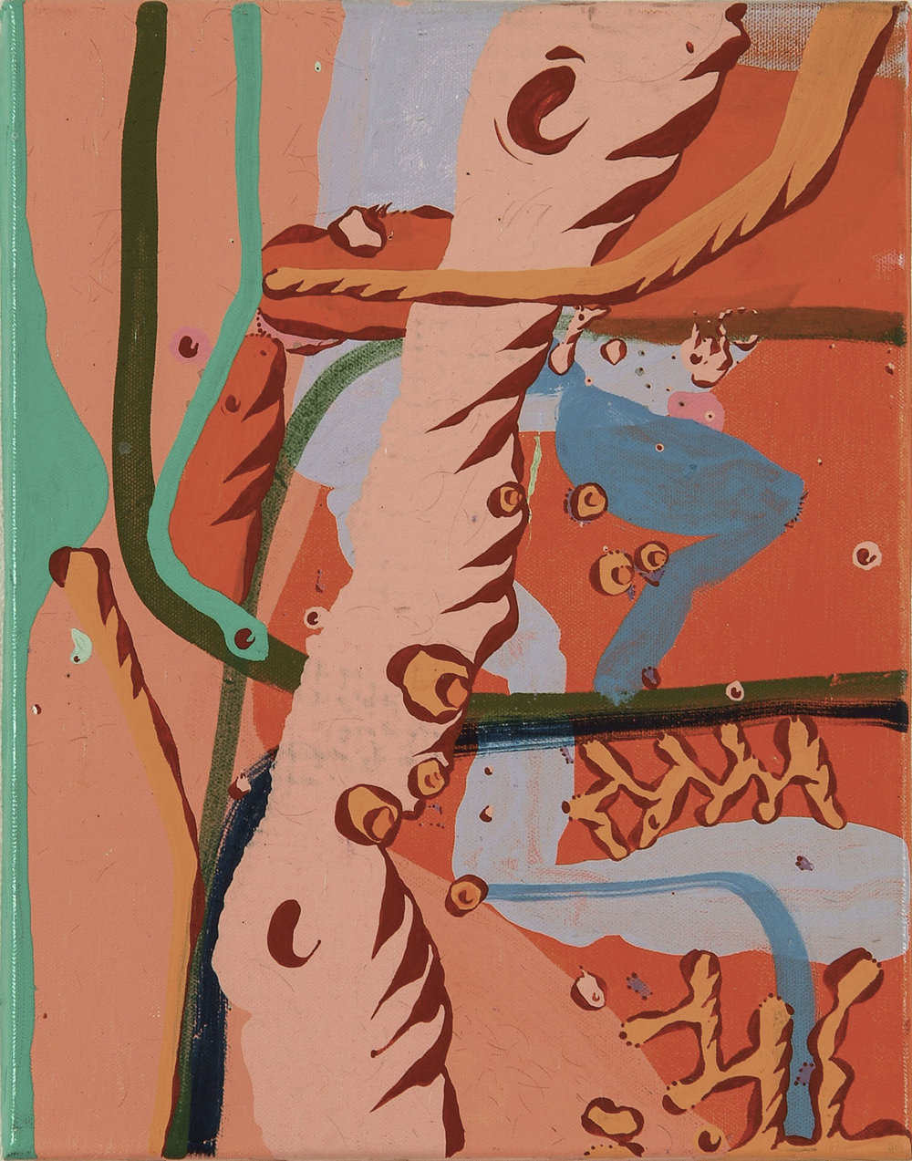 o.T. | Acryl auf Leinwand |2005 |35,5 x 28 cm