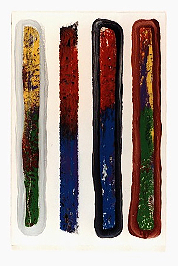 dezimal-6 | Acryl auf Leinwand | 1999 | 60 x 40 cm