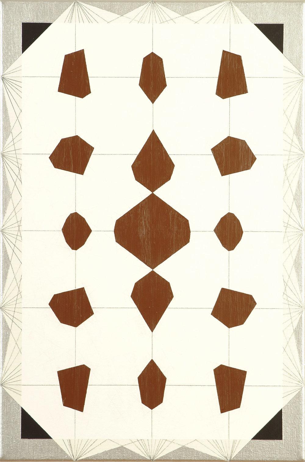 dezimal 23 | Acryl und Graphit auf Leinwand | 2000 | 60 x 40 cm
