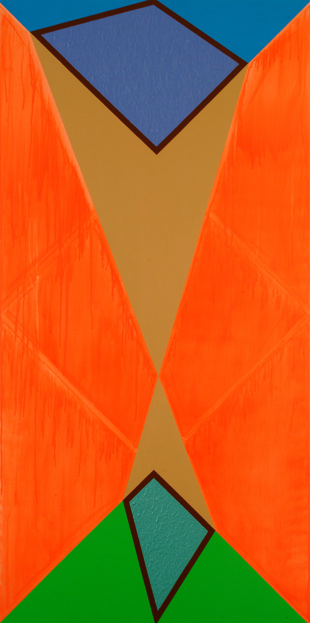 Bild-44 (Die Projektion) | Acryl auf Leinwand | 2007 | 200 x 100 cm