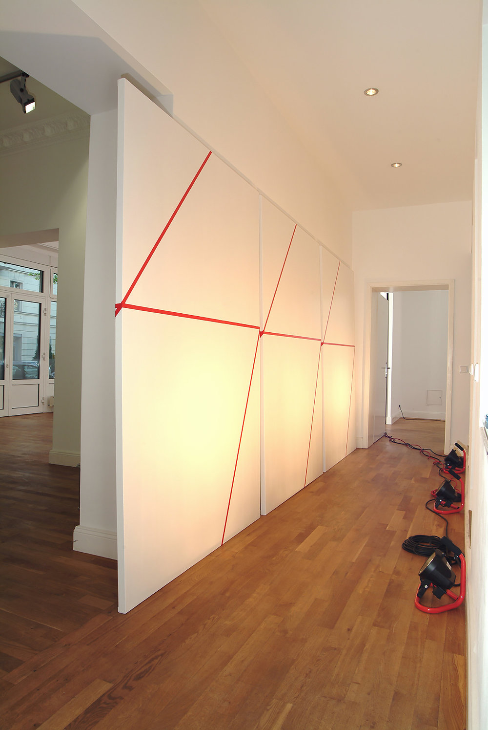 o.T. | Acryl und Klebeband auf Leinwand | 2008 | 228 x 153 cm