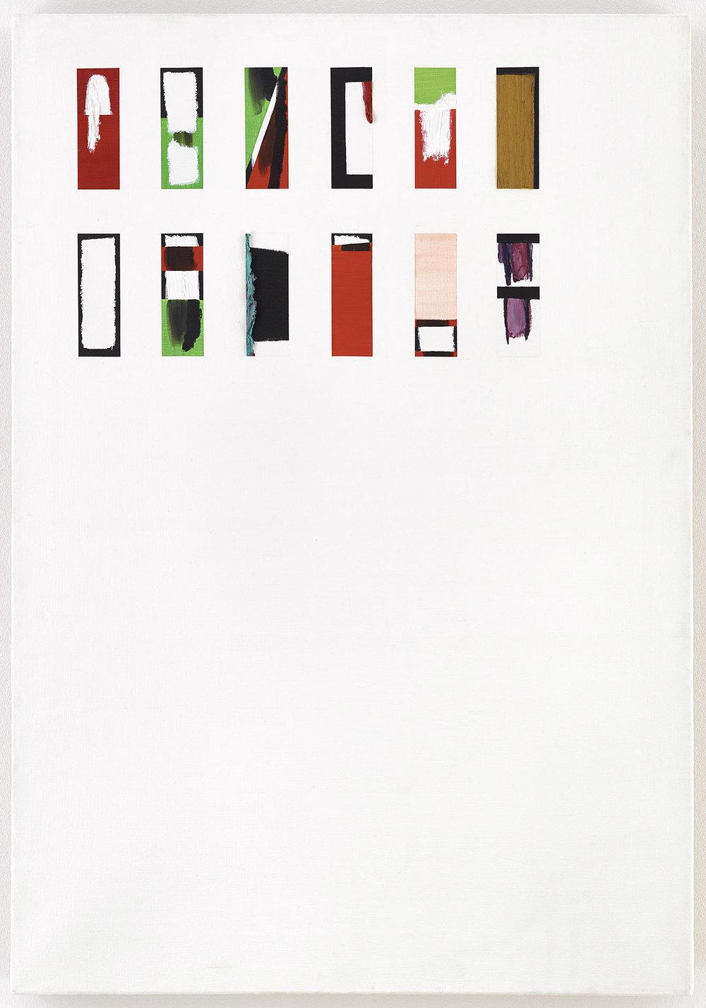 """""""Monogramm"""" (Dresden)   Öl und Acryl auf Leinwand   1993   116 x 81 cm"""