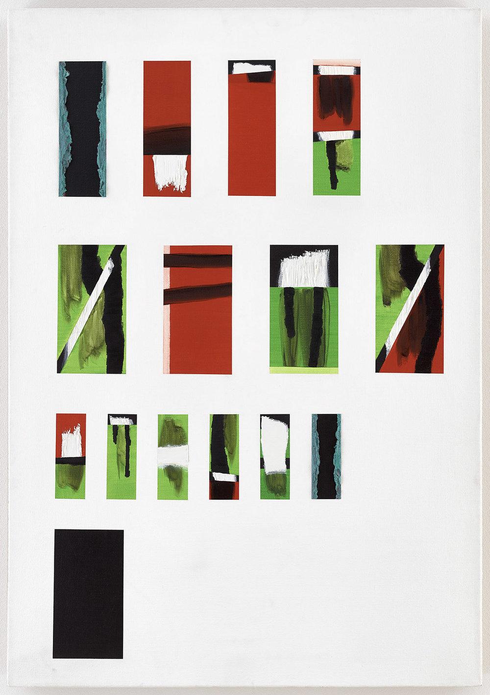 """""""Heimspiel"""" (Freiburg)   Öl und Acryl auf Leinwand   1993   116 x 81 cm"""