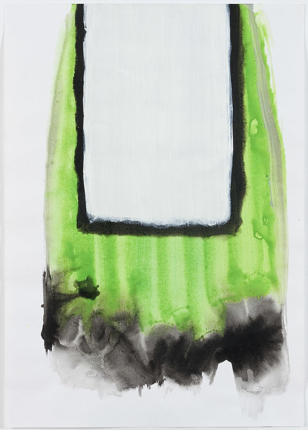 o.T.   Wasserfarbe und Deckweiß auf Papier   1998   42 x 29 cm