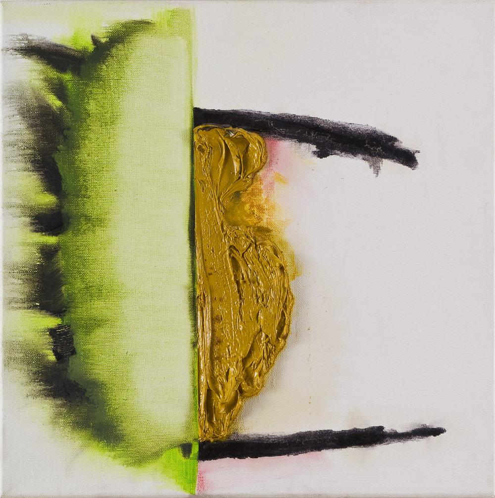 Bullerbü   Öl auf Leinwand   1994   45,5 x 45,5 cm