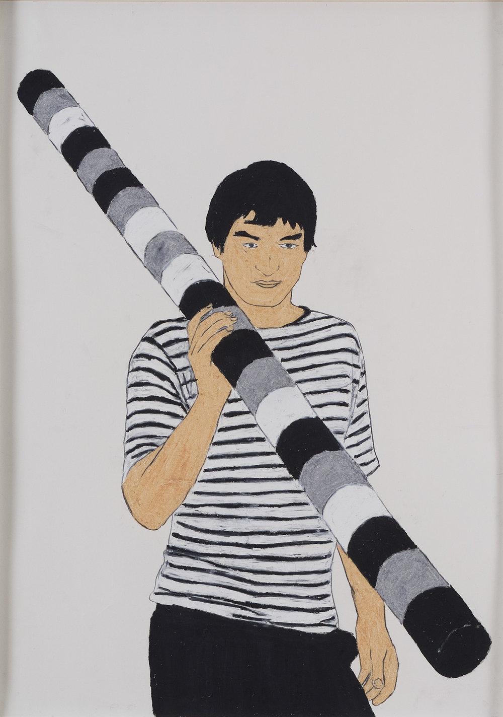 A. Cadere | Wachskreide auf Papier | 2008 | 84 x 59 cm