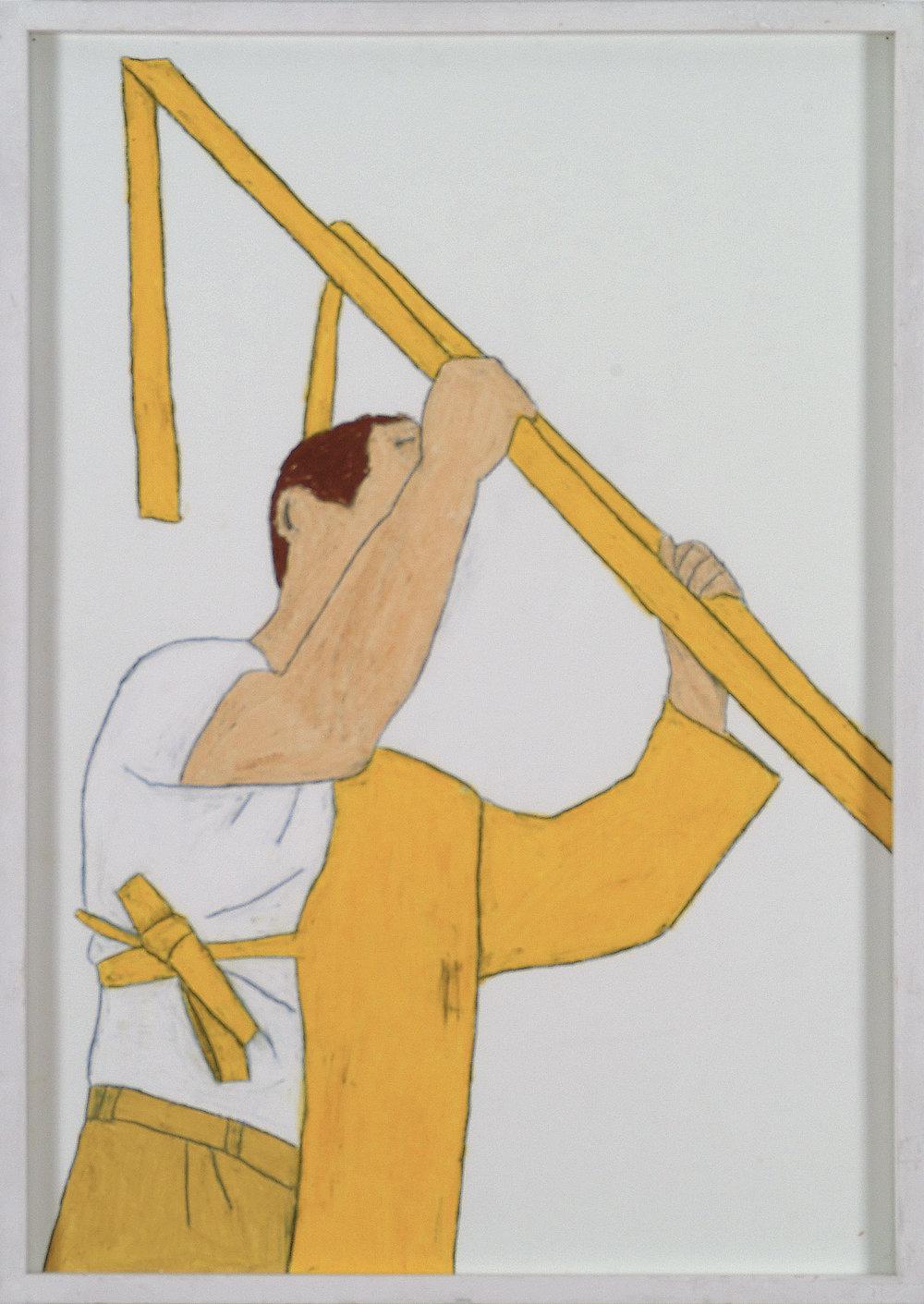 F.E. Walther | Wachskreide auf Papier | 2008 | 84 x 59 cm