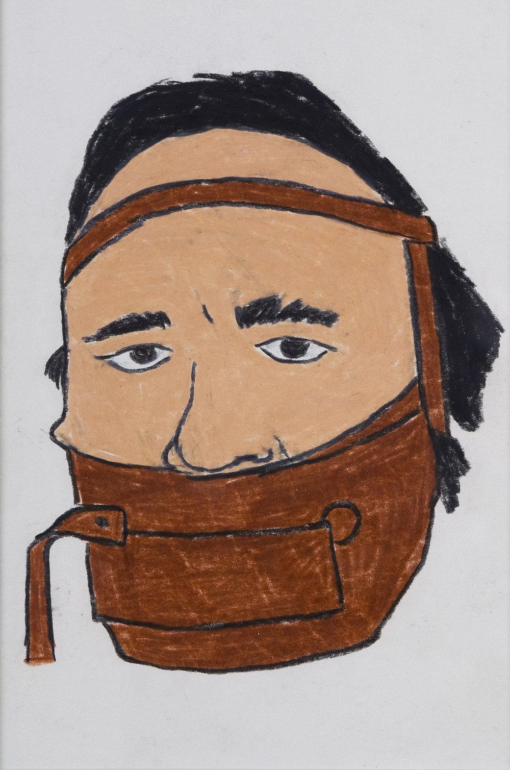 Jimmie Durham | Wachskreide auf Papier | 2006 | 20,5 x 14 cm