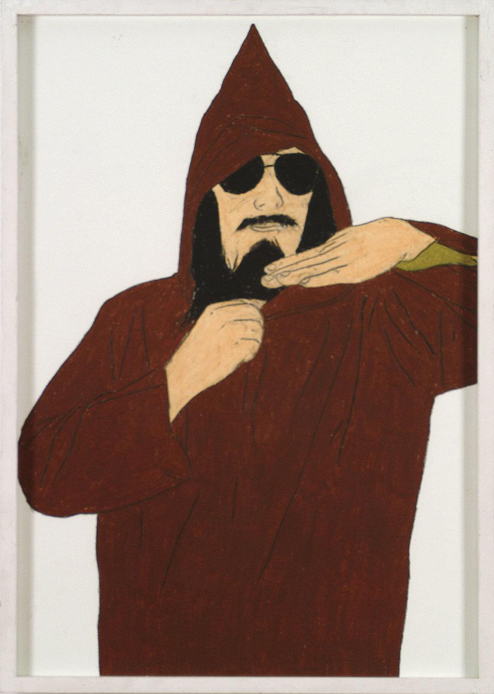 J. Meese | Wachskreide auf Karton | 2008 | 84 x 59 cm