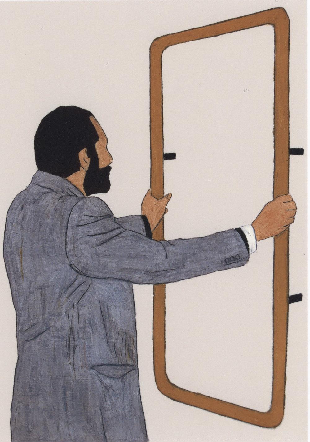 R. Zaugg | Wachskreide auf Karton | 2008 | 84 x 59 cm