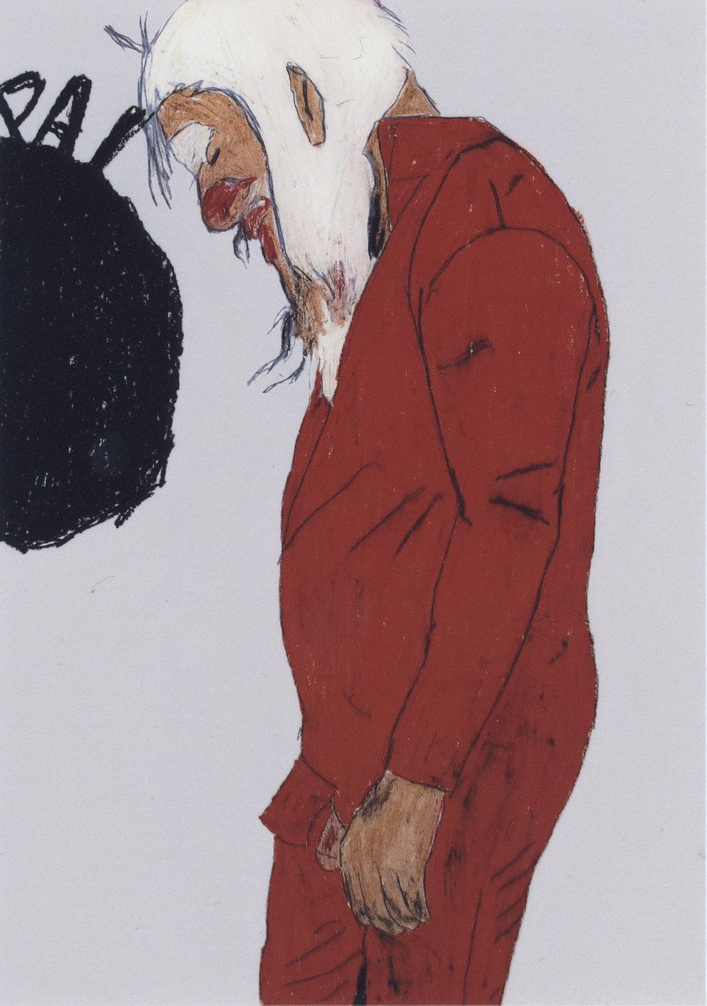 P. McCarthy | Wachskreide auf Karton | 2008 | 84 x 59 cm