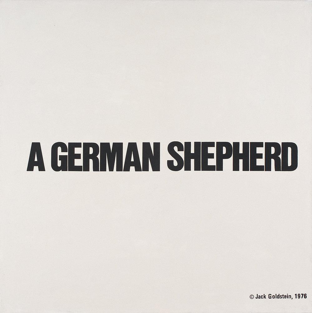 A German Shepherd | Öl und Acryl auf Leinwand | 2013 | 120 x 120 cm