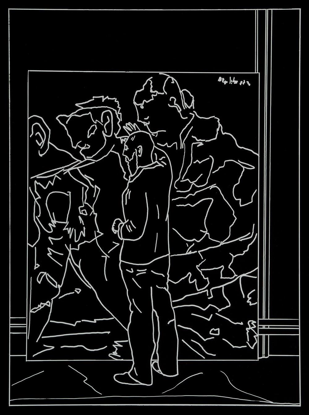 Der Besuch (10) | 1993 | Fotografie | 46,5 x 35,5 cm