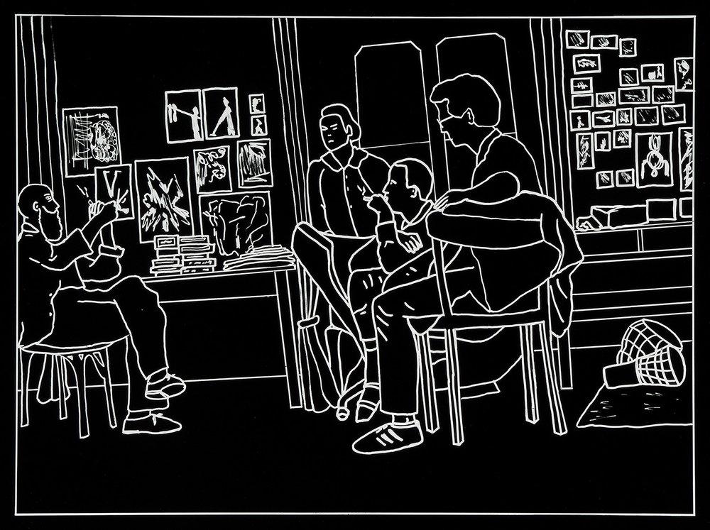 Der Besuch (11) | 1993 | Fotografie | 35,5 x 46,5 cm