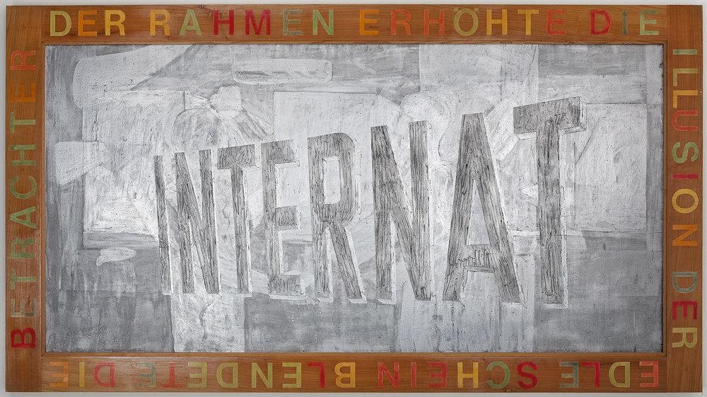 Internat | 1989 | Acryl auf Leinwand | 222 x 122 cm