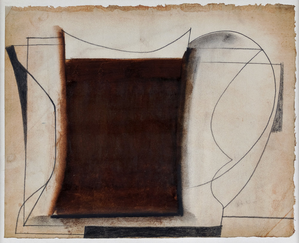 Jug | 1954 | Bleistift, Tusche, Ölfarbe auf Papier | 21 x 26 cm