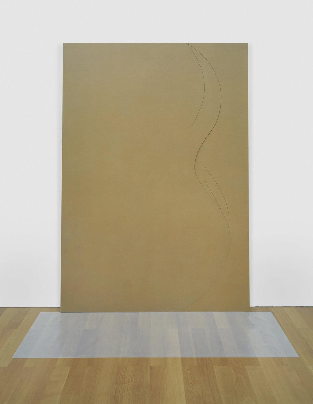 Buon governo | 1986 | Objekt, Spanplatte, Plastikfolie |275 x 185 cm