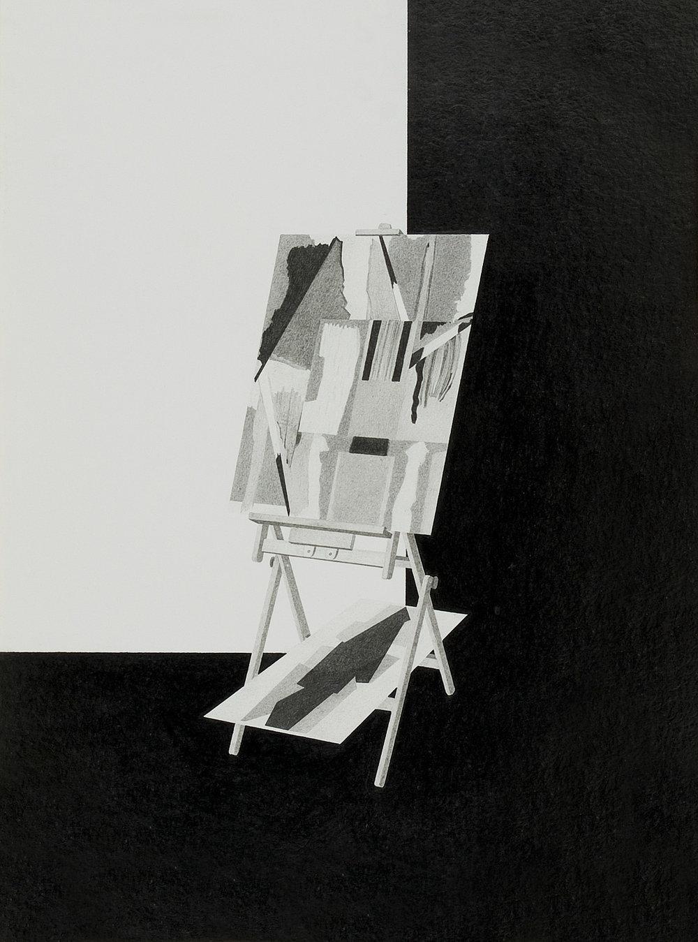 o.T. (Merkel/Freundlich) | 2006 | Bleistift auf Papier | 44,5 x 33,5 cm