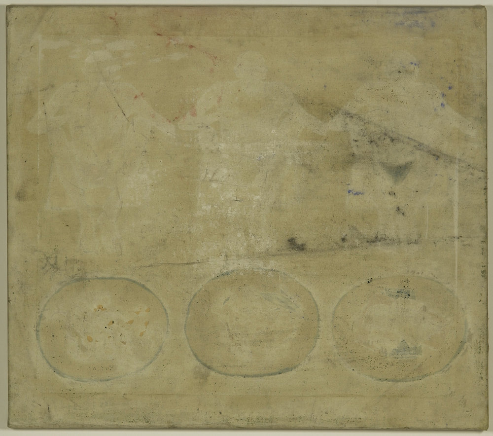 Grundierung I 1961 | Kreidegrund auf Leinwand | 69,5 x 79 cm