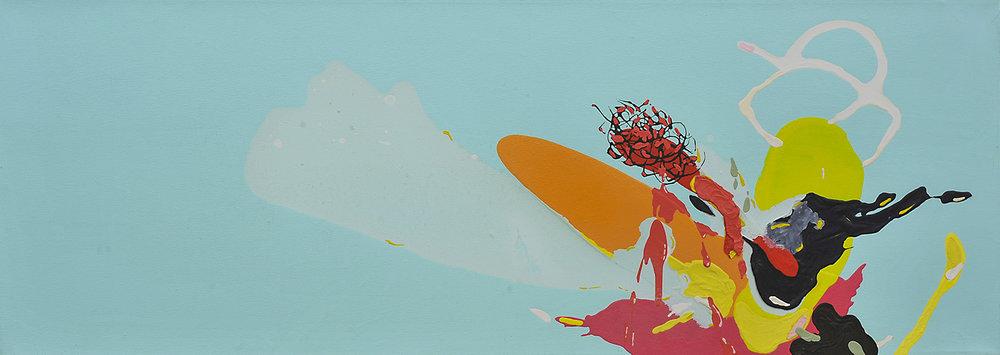 2008 | Öl und Emailfarbe auf Leinwand | 51 x 143 cm
