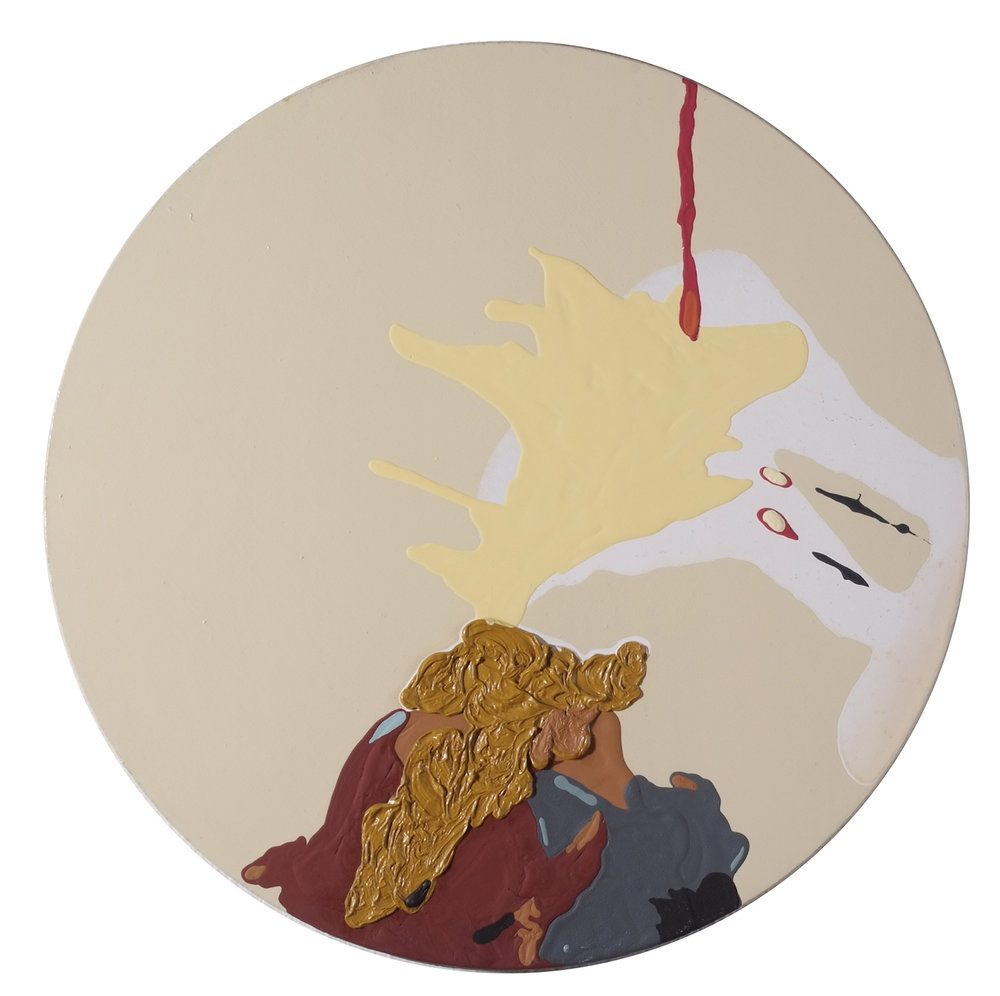 o.T. | 2009 | Öl und Acryl auf Leinwand | Ø 51 cm