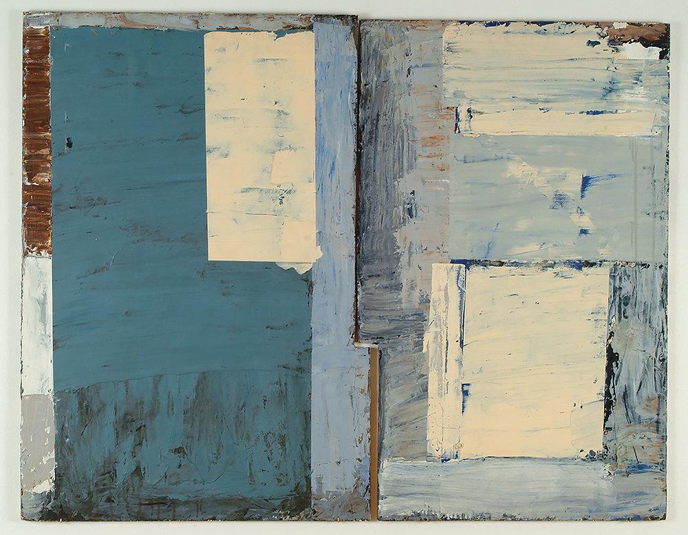 Untitled | 1975 | Öl und Wachs auf Sperrholz, zweiteilig | ca. 91  x 116 cm
