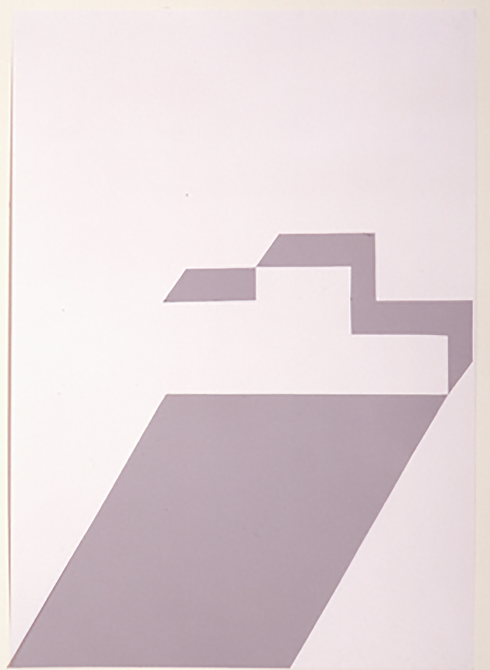 o.T. | 1998 | Papierarbeit, Collage und Scherenschnitt auf Karton | 86 x 61 cm