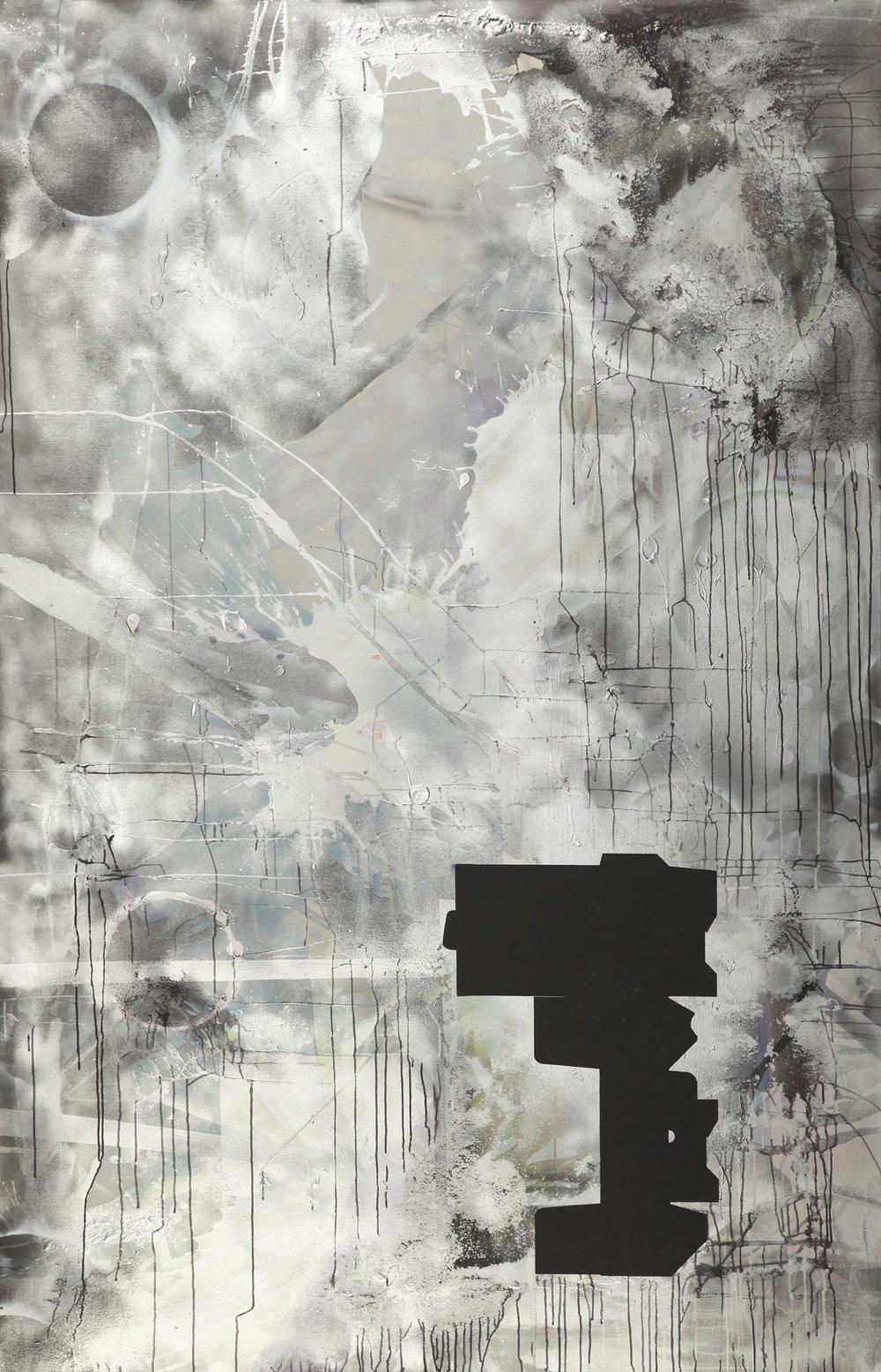 o. T. 8   2010   Acryl auf Leinwand   230 x 150 cm