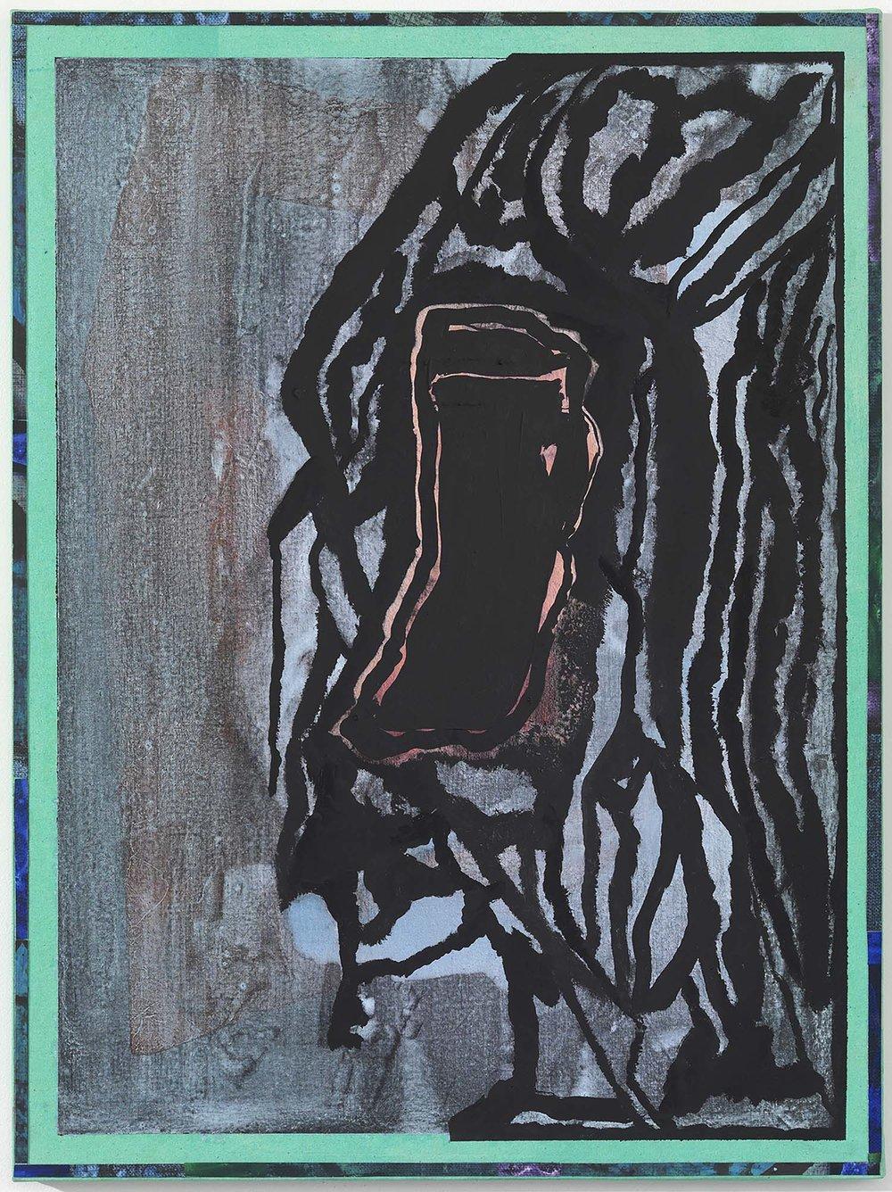 ohne Titel | 2014 | Leinwand, Acryl, Öl, Pigment auf Nessel auf MDF |63 x 47 cm | x