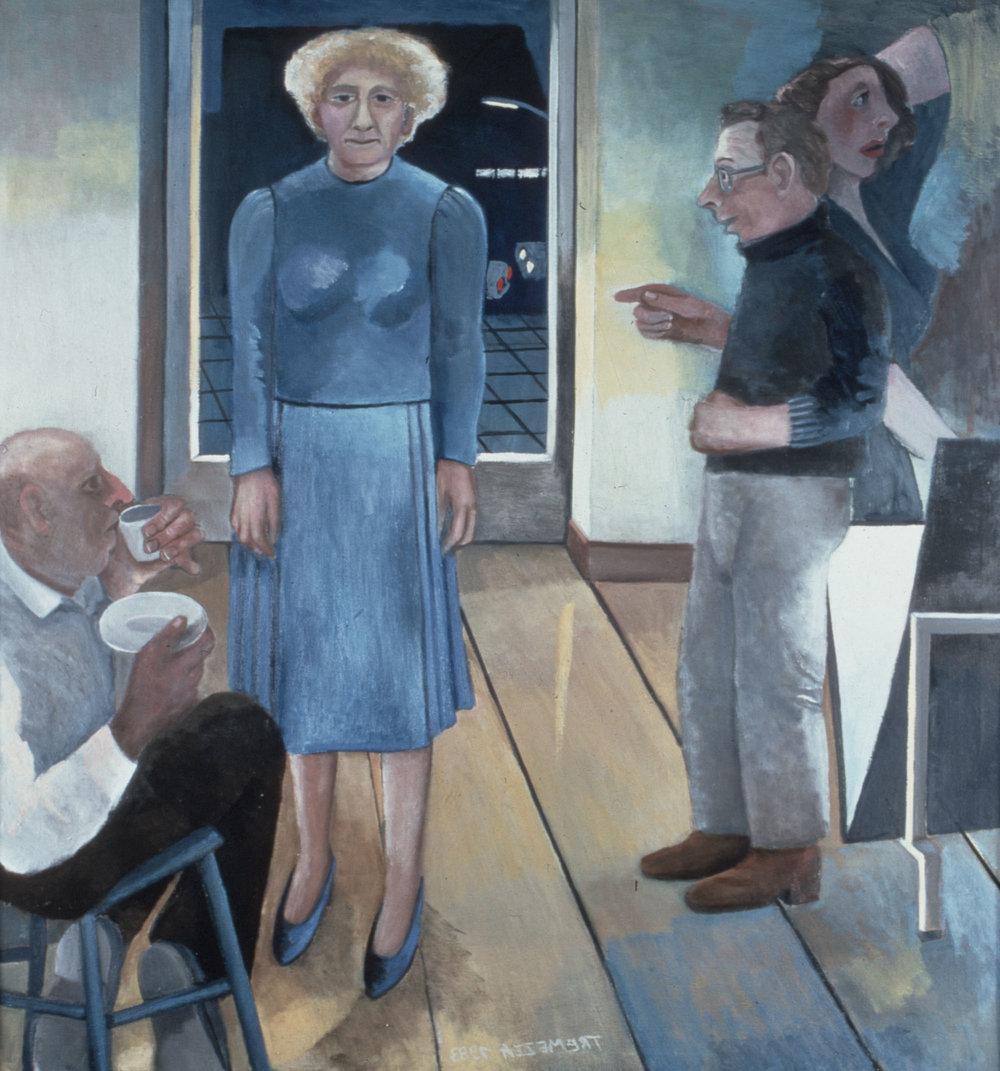 Bildnis einer Galeristin | Öl auf Leinwand | 1983 | 127 x 127 cm