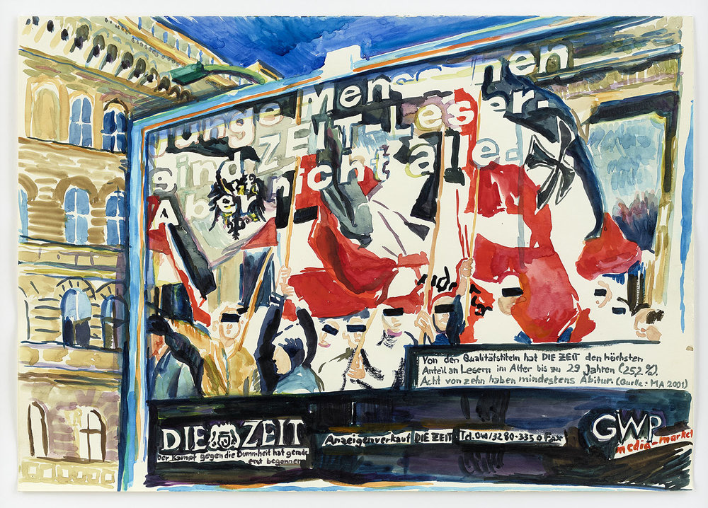 o.T. | 13.05.2001 (Sebastianstraße/ Berlin) | Aquarell auf Papier | 42 x 59 cm (gerahmt 49 x 66 cm)