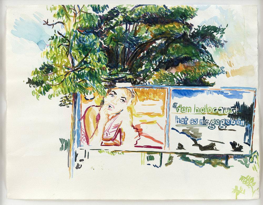o.T. | 26.7.2001 (Waldemarstraße/ Berlin) | Aquarell auf Papier | 50 x 65 cm (gerahmt: 58,5 x 73,5 cm)
