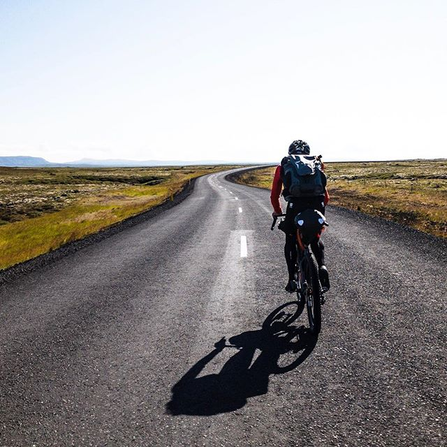 We're mixing the media up here in #Iceland. 50 miles of pavement. Then 50 miles of gravel.