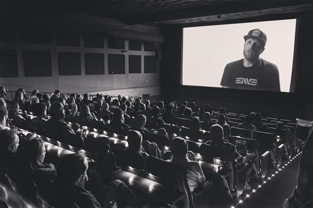 Thanks to @mikezswim for the photo and to everyone who came out for the premiere of @sharedterritory! The folks at @envecomposites know how to build wheels AND throw a party!  Our next screening is in the PDX so keep an eye out! Thanks to the companies that believe in our message and getting that message to the big screen! @mootscycles @sportful @clifbar @maxxisbike @bigagnes_ @thinktankphoto @noble_hardesty @ortlieb_waterproof