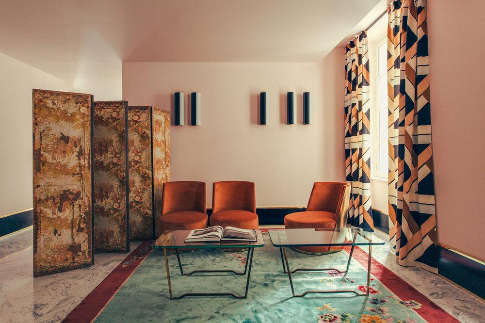 Interiors: Dimore Studio for Hotel Saint Marc, Paris. Photo:Philippe Servent