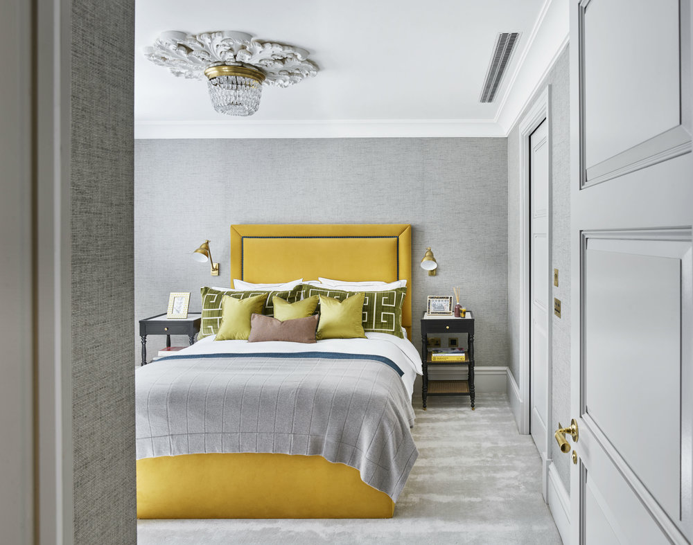 Casual luxury for a welcoming guest room.  Photo: Nick Rochowski