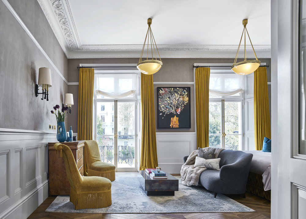 Master Bedroom in Leinster Square. Photo: Nick Rochowski