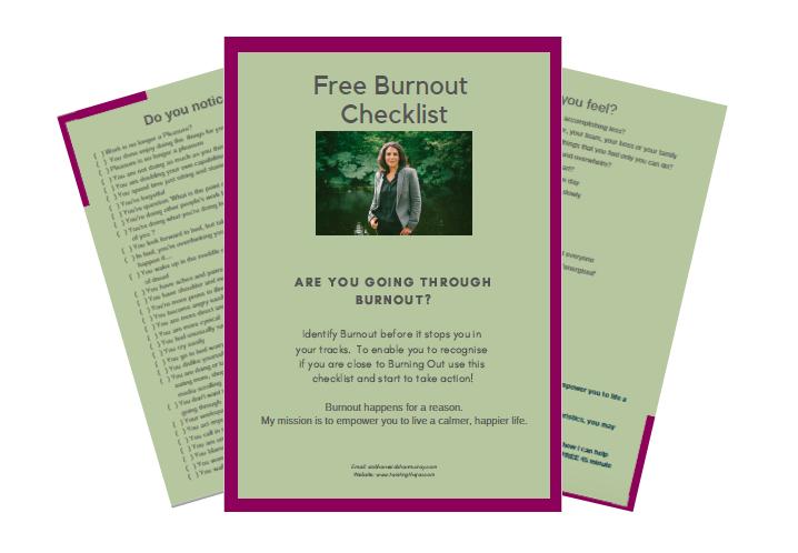 Free Burnout Checklist Quiz -