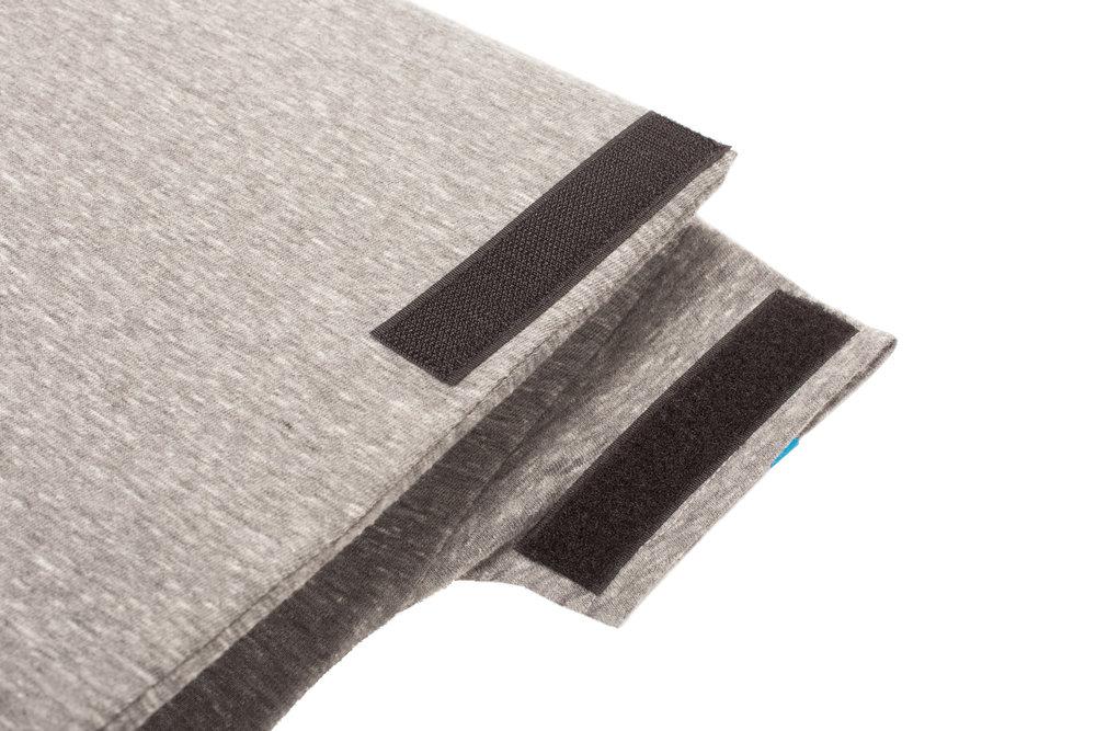 1 2 2 t wrap binder sleeve heather gray mind body apparel