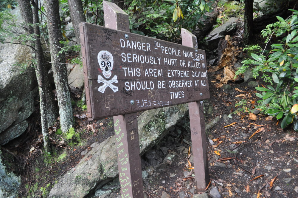 No joke, this is a difficult hike but can be completed by small dogs and children with the proper foot wear and precautions.