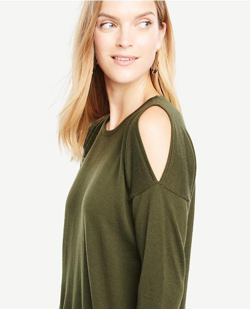 Cold Shoulder Merino Wool Sweater- $79.50