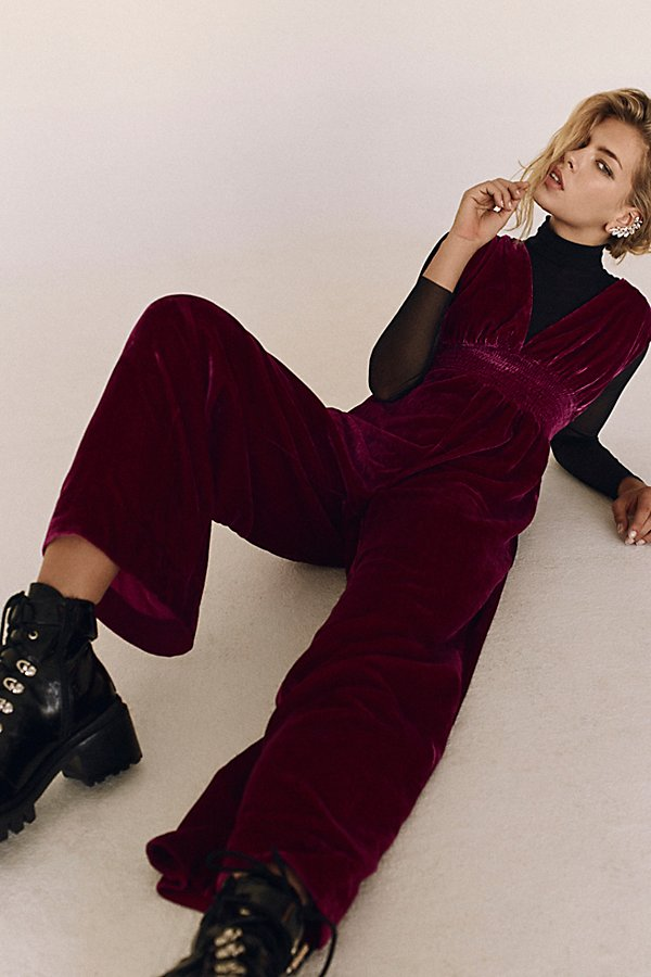 Find this velvet Free People jumper in stores and online today for $128, super affordable for Free People.