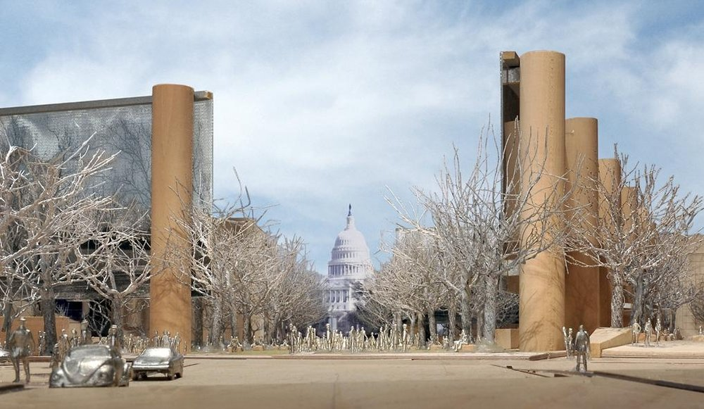 Rendering of the National Eisenhower Memorial.