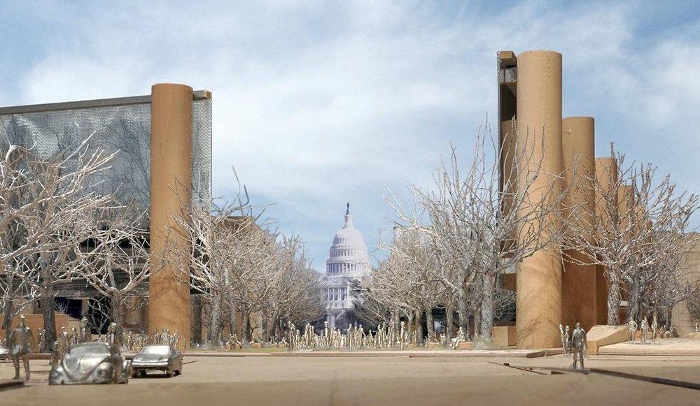 Rendering of the National Eisenhower Memorial.