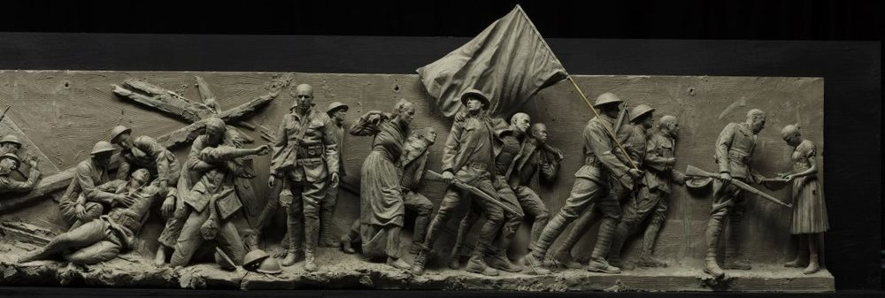 Right side of the maquette for the National World War I Memorial.