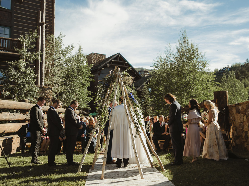 wedding floral arch tepee vail co