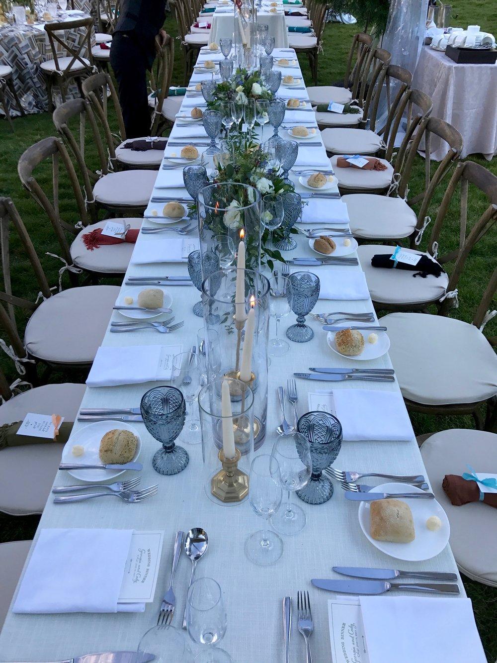 wedding table centerpiece florist