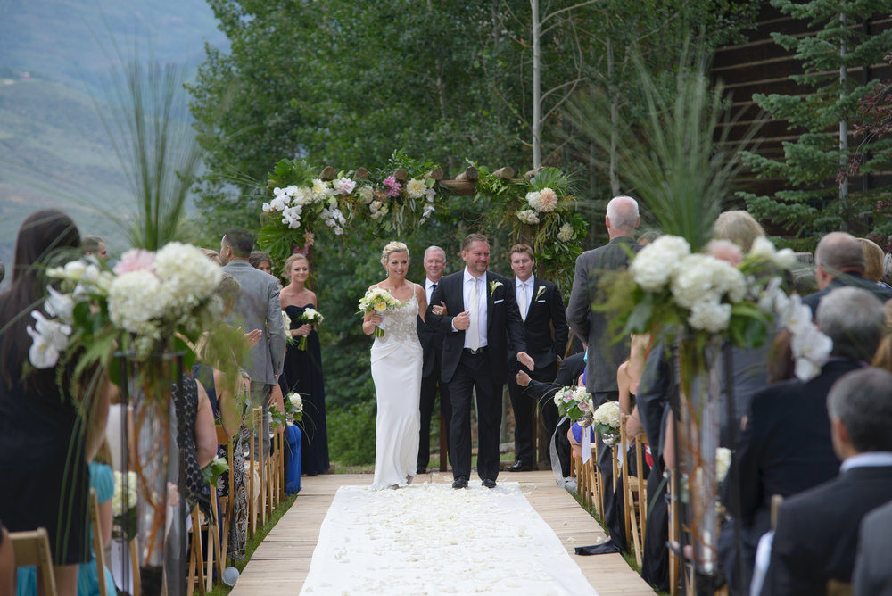 vail resort wedding flowers vail co