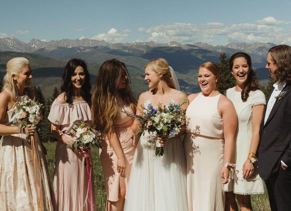 outdoor mountain wedding florist vail co